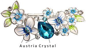 Suesse-amp-edle-Haarspange-mit-Tuerkis-Austria-Crystal-NEU-Viel-mehr-im-Shop