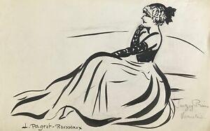 Lucienne-Pageot-Rousseaux-Drawing-Original-Ink-Suzy-Prim-Varieties