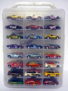 Hot Wheels 48 Voiture Housse De Transport Avec Mustangs Ford Shelby Cobra Moulé