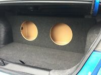 For A 2013+ Dodge Dart - Custom Sub Box Subwoofer Speaker Enclosure - (2 12)
