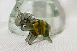 Miniature Murano hand blown glass elephant vintage
