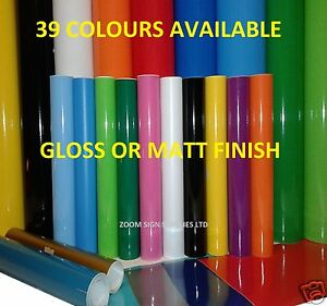 Cameo 3 Sheets 3-5 Year Self Adhesive Gloss Sign Vinyl Coloured Brilliant 305mm X 610mm