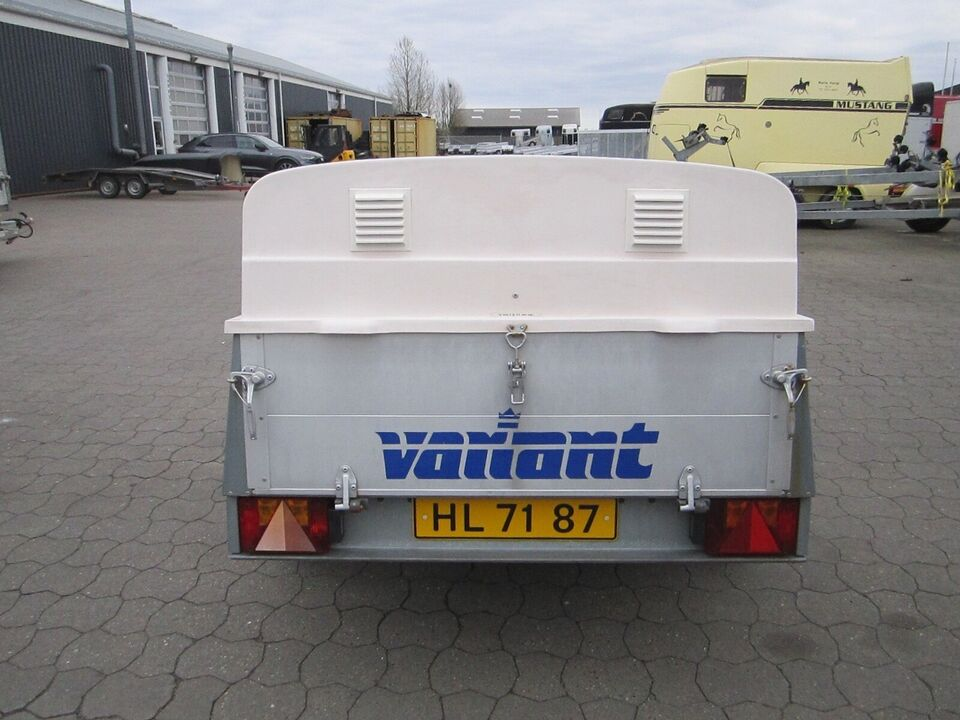 Trailer Variant 502D2 alu med låg og hundekasse, lastevne