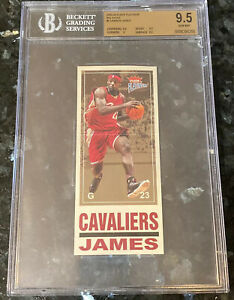 💎2003-04 LeBron James FLEER PLATINUM BIG SIGNS ROOKIE #7 BGS 9.5 PSA topps gold