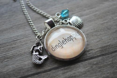 "Dinglehopper Charme Pendentif Ton Argent Little Mermaid /""Inspired Collier"