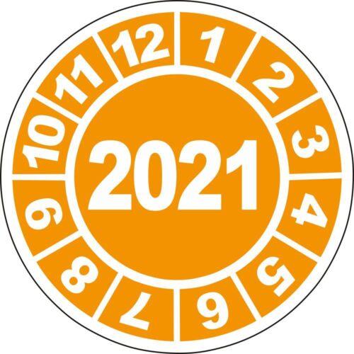 UVV Prüfplaketten Jahresplaketten 2021 20mm 50 bis 10000Stk BGV Prüfung DGUV D27