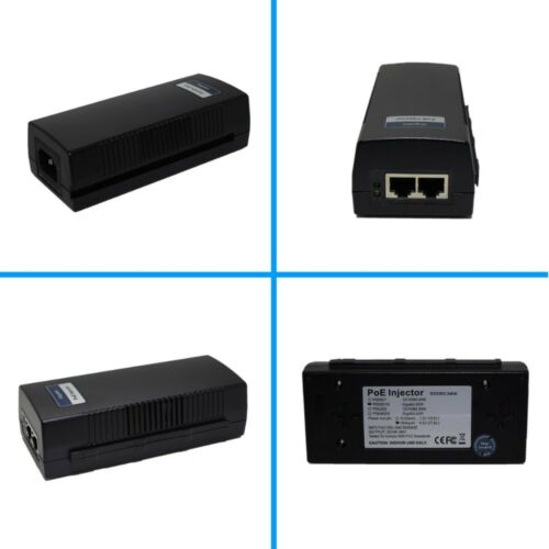 1-Port PoE Injector// Switch 48V 0.65A 30W for IP Camera Networking RJ-45