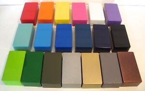 Aluminium DieCast POWDER COATED Hammond STYLE Enclosure StompBox ALL SIZES