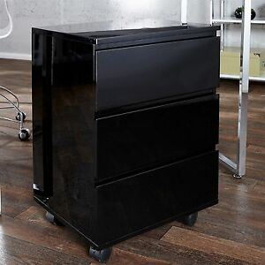 Mobile File Cabinet Roll Black 25 5x17 5x15 5 Wood Filing