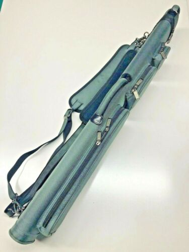 J/&J All Grey 3 Butt 4 Shaft 3x4 Duranylon Cue Case With Backpack Straps !!!
