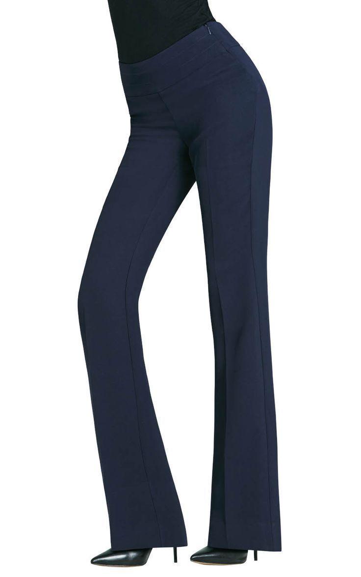 CAbi Curvy PR Trouser NAVY  Size 8  32  Inseam  Style NWT  108 Retail