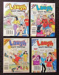 Archie Digest Library Laugh comic 6 issue lot 1991-1994