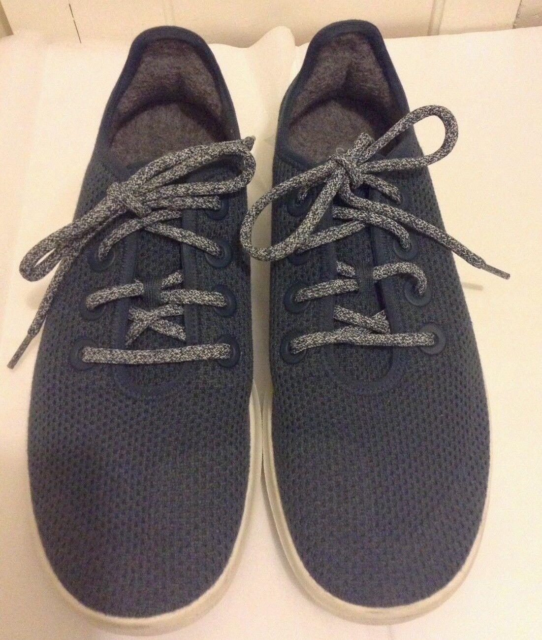 Allbirds Allbirds Allbirds Mesh Tree Runner shoes Sneakers Sz 10 Navy bluee wool insole eco made cc4f15