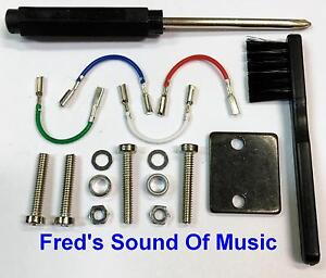 Headshell-Cartridge-Hardware-Kit-Screws-Driver-Wire-Lead-Shure-Technics-RPP-644