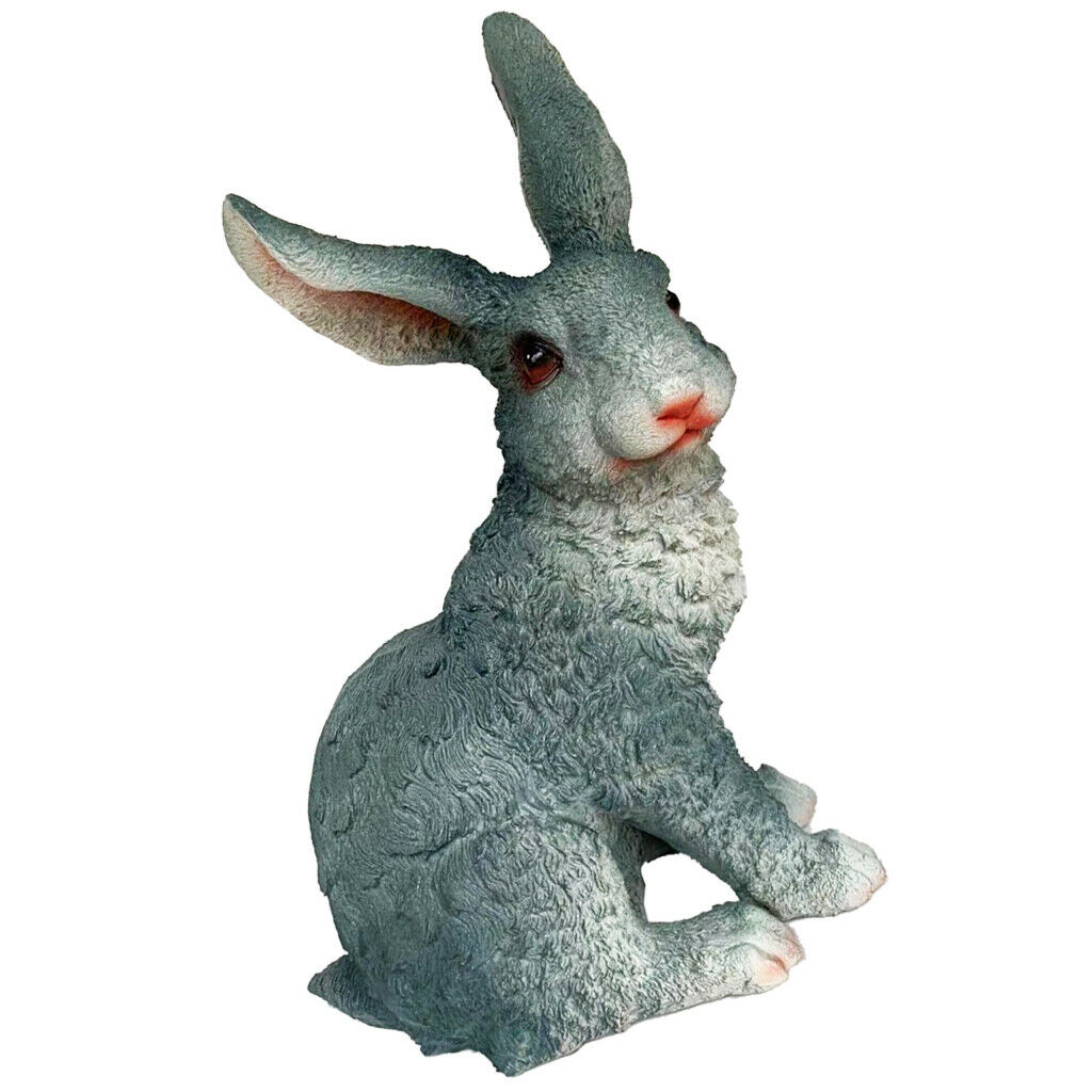Resin Rabbit Statue Figurine Bunny Garden Sculpture Lawn