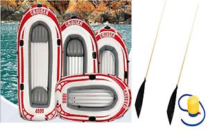 Jilong Dinghy Inflatable Cruiser Boat raft Sport Sea Lake fishing oars & pump