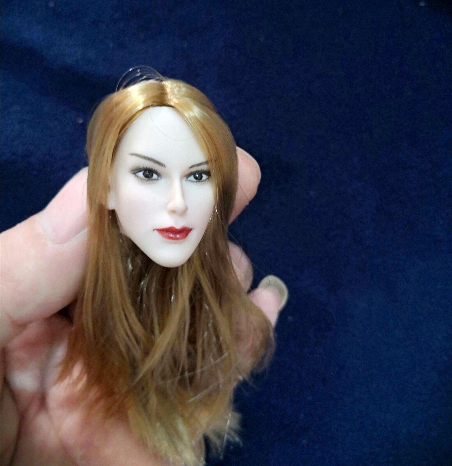 1 6 Scale Girl Head Sculpt Model Fit 12'' Pale Pale Pale HT