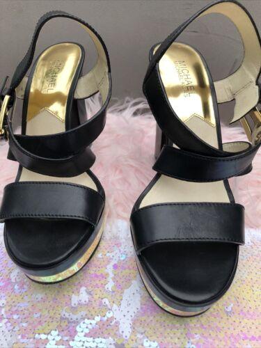 michael kors shoes 8.5 Platform Gold Trims