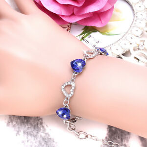 Ladies-Fashion-Titanic-Blue-Heart-Of-Ocean-Crystal-Bracelet-Jewellery-For-Women