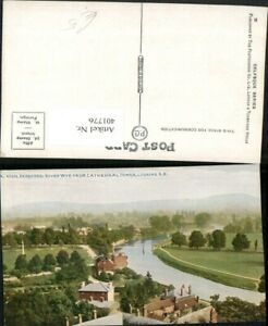 401776-England-Hereford-River-Wye-from-Cathedral-Tower-Fluss