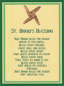 saint brigid cross irish house blessing holy post card set of 8 ebay