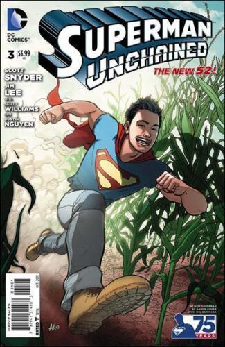 SUPERMAN UNCHAINED #3 DC NEW 52 variant AARON KUDOR 1st print superboy JIM LEE
