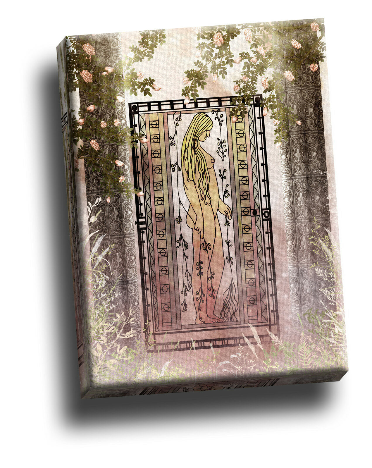 Beautiful Gothic Glass Giclee Canvas Picture Art Decoration
