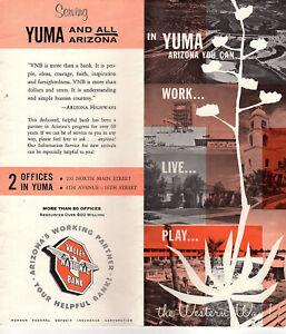 Street Map Of Yuma Arizona.Details About Yuma Arizona Vintage 1960 S Travel Brochure Black White Photos Street Map