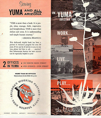 Street Map Of Yuma Arizona.Yuma Arizona Vintage 1960 S Travel Brochure Black White Photos Street Map Ebay