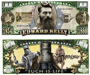 RARE-NED-KELLY-1-000-000-Novelty-Note-Outlaw-Man-Cave-Buy-5-Get-one-FREE