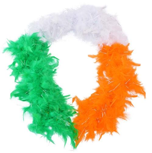 Irish Tri Colour Designed Feather BOA With Glitter 150cm In Length