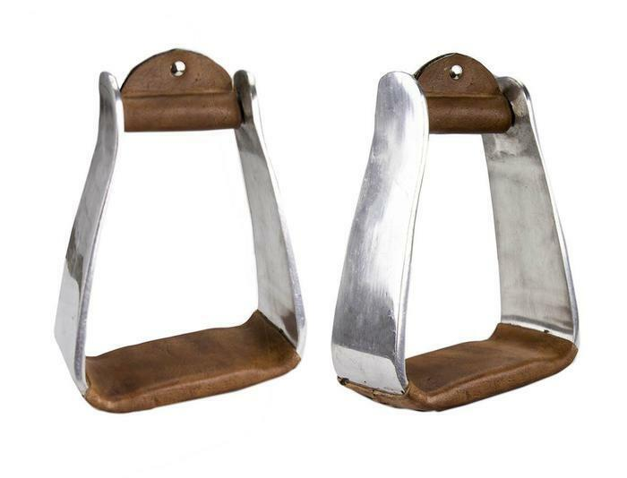 Tahoe Heavy Duty Aluminum Angled Barrel Stirrups for Western Saddles  Pair Adult  wholesale cheap and high quality