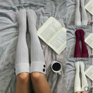 681b7fbdd Details about 2Pcs Womens Winter Cable Knit Over Knee Long Boot Thigh-High  Warm Socks Leggings
