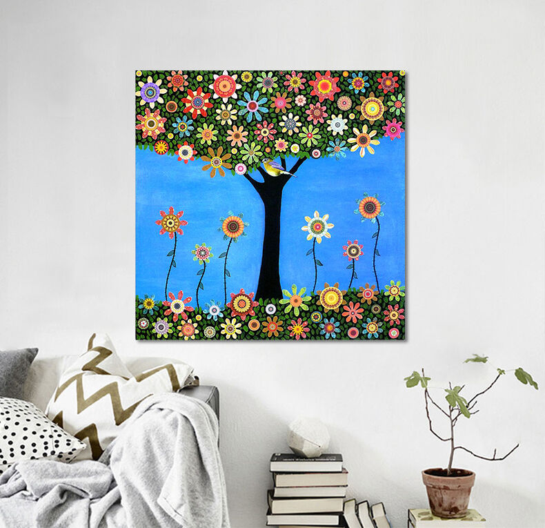 3D Farbe Baum 658 Fototapeten Wandbild Fototapete BildTapete Familie AJSTORE DE