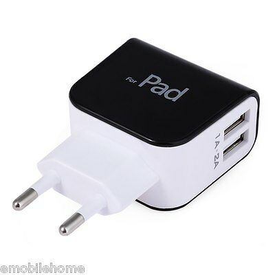 EU Plug Wall Charger 2 USB Ports Charging Adapter for Travel Home EU PLUG