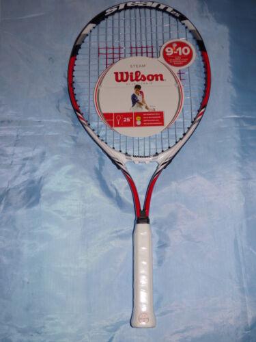"Wilson steam 25/"" raquette de tennis 9-10 ans junior jeux sport team raquette racquet"