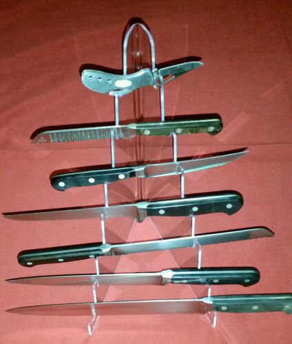 ~#Display 7 Tier Stand Holder For Folding /& Fixed Blade Knives Daggers Bayonets