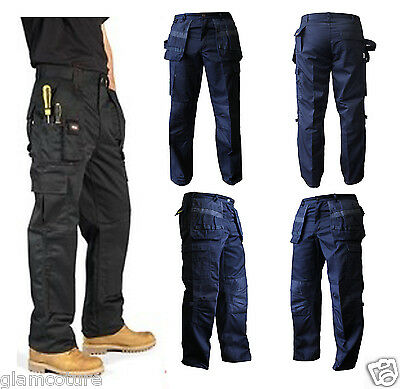 Humor Mens Work Trousers Heavy Duty Cargo Multi Pockets Knee Pad Pockets Sizes W30-w50 Exquisite (In) Verarbeitung