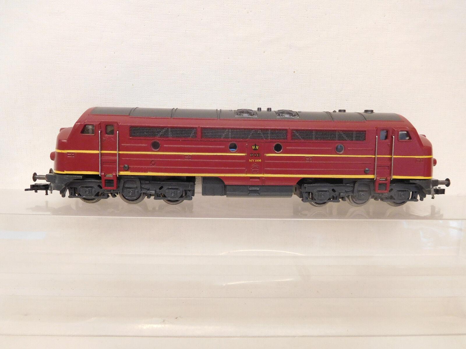 MES-60074 Fleischmann H0 Diesellok DSB My 1108 mit 3-Licht-Spitzenlicht