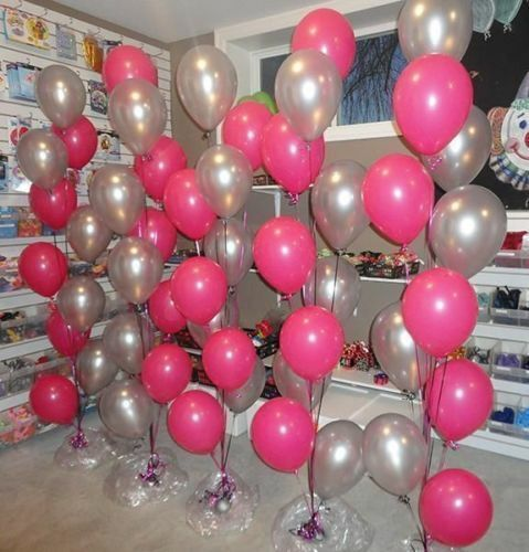 """Happy Mothers Day Silver and Pink 10/"""" inch Latex 20 Balloons birthday All party"""