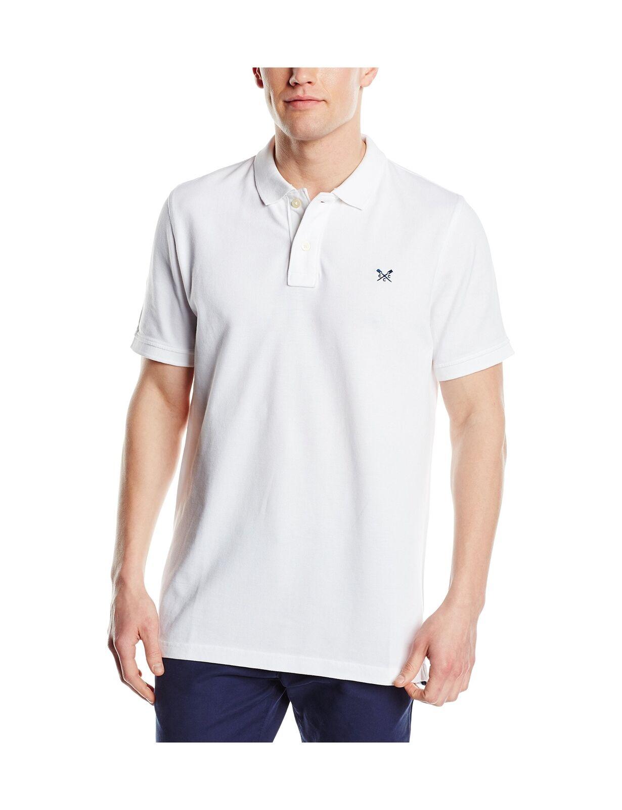 Crew Clothing Men's Classic Pique Polo Shirt White X-Large