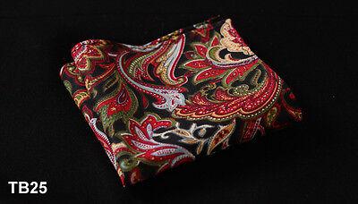 TB Paisley Floral Men Cotton Blend Pocket Square Hanky Wedding Handkerchief