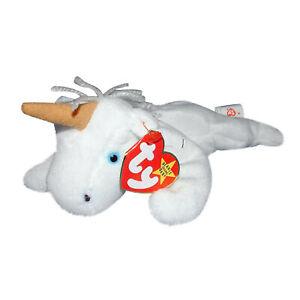 8287b7e1584 Ty Beanie Baby Mystic - MWMT (Unicorn Tan Horn Yarn Mane 1994 ...