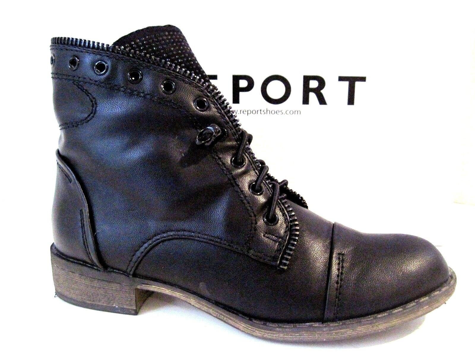 REPORT Ankle Women's Black NYLES Fashion Ankle REPORT Boots Size 7.5 9aa358