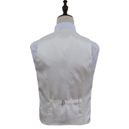 DQT Woven Plain Solid Check Fuchsia Pink Mens Wedding Waistcoat /& Bow Tie Set