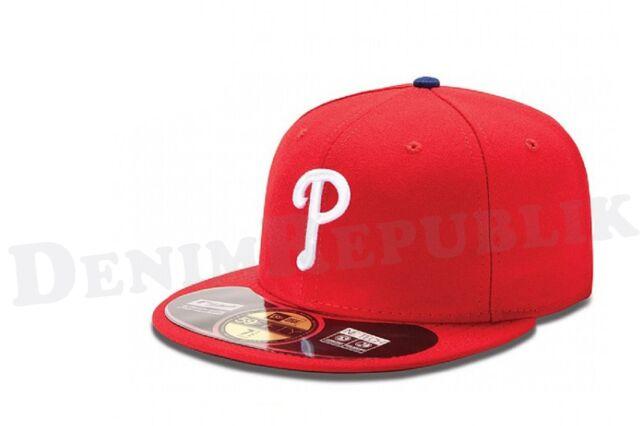 New Era 59FIFTY PHILADELPHIA PHILLIES -On Field Game Cap MLB Baseball Red Hat