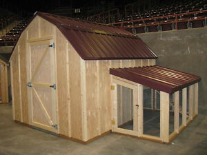 Chicken coop plans with material list the poultry barn for Dog kennel shed combo plans