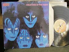 Original KISS creatures of the night lp vinyl makeup ace glam '82 kim fowley oop