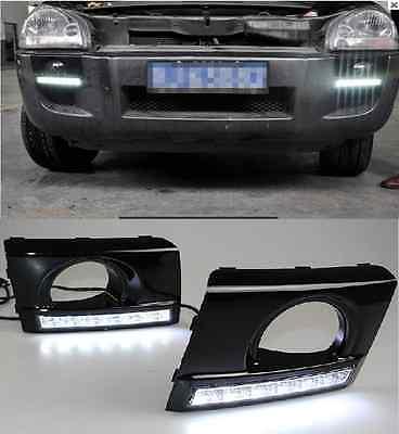 LED DRL Driving Daytime Running Day Fog Lamp Light For 2005-2012 Hyundai TUCSON