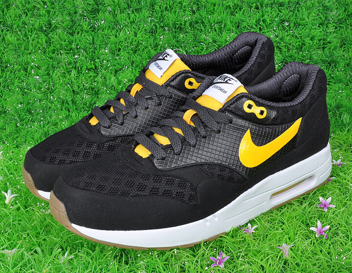 2018 Nike Air Max 1 Maxim Torch+ ND SZ 13 Noir Varsity Maize Jaune 385204-071